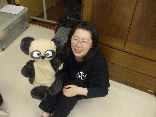 手作りパンダ人形&とみぃ